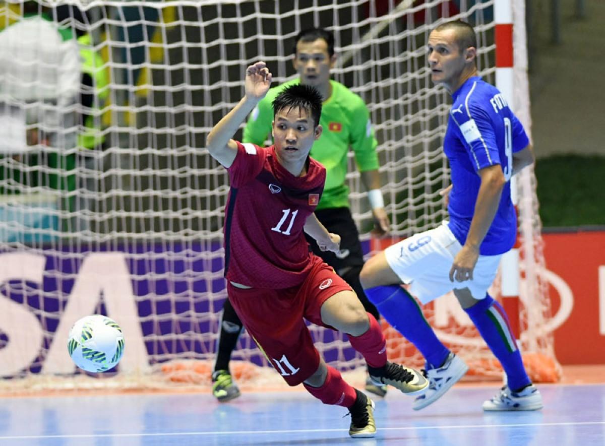 ĐT Futsal Việt Nam thi đấu xuất sắc lọt vào vòng 1/8 tại VCK FIFA Futusal World Cup Colombia 2016.