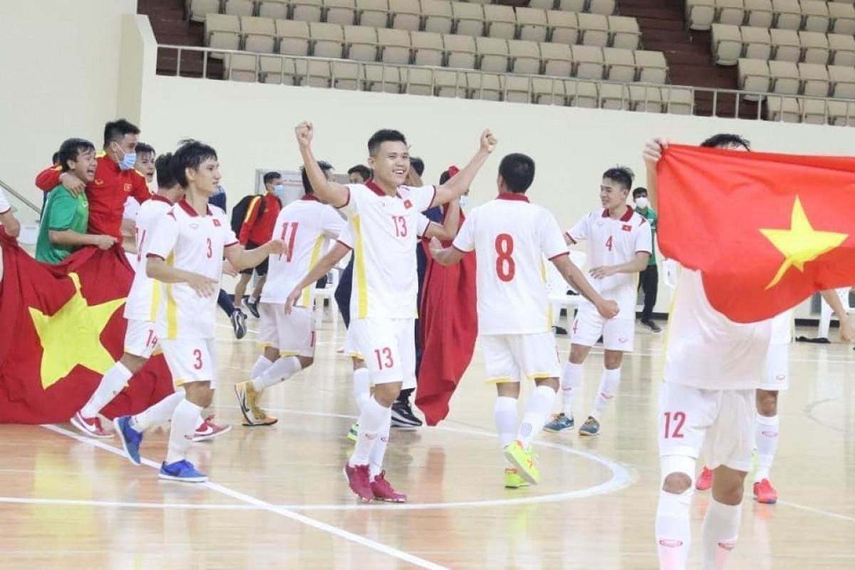ĐT Futsal Việt Nam sẽ được đăng ký 16 cầu thủ dự Futsal World Cup 2021. (Ảnh: VFF).