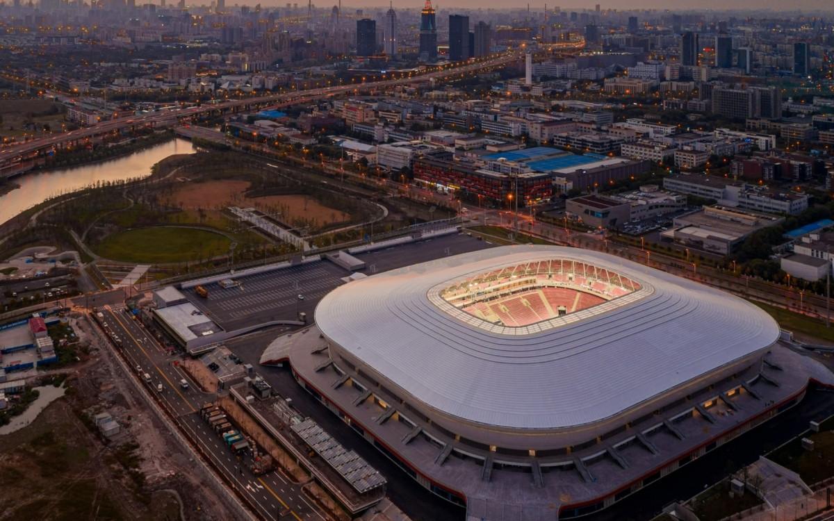 Sân vận động Phố Đông ở Thượng Hải sẽ là sân nhà của ĐT Trung Quốc ở vòng loại cuối cùng World Cup 2022 khu vực châu Á. (Ảnh: SINA).