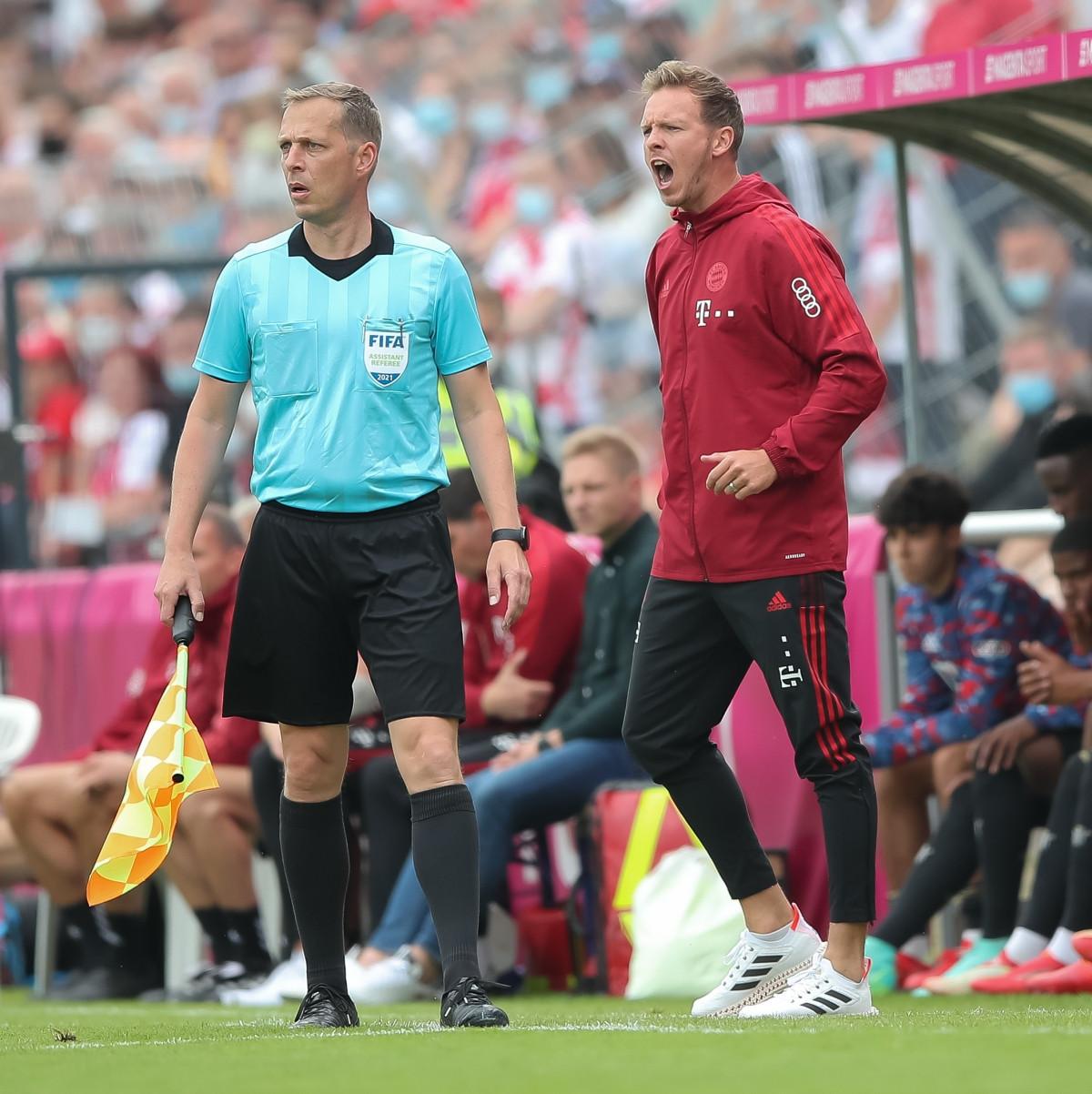 Bayern Munich thua trận ra mắt HLV Julian Nagelsmann. (Ảnh: Goal).