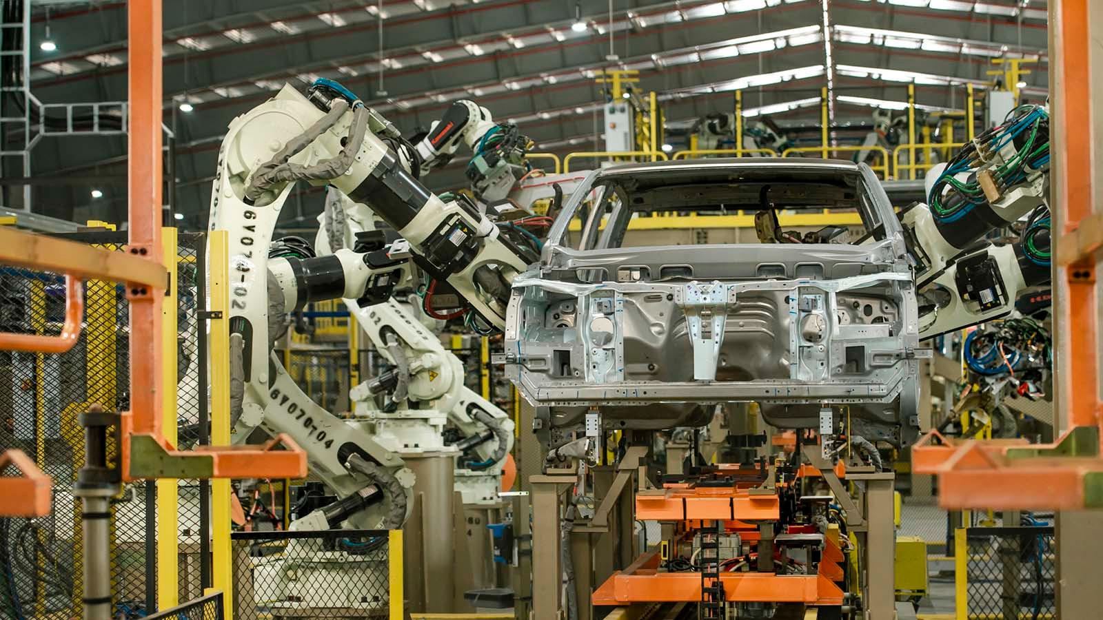 Dây chuyền sản xuất xe Ford Ranger CKD