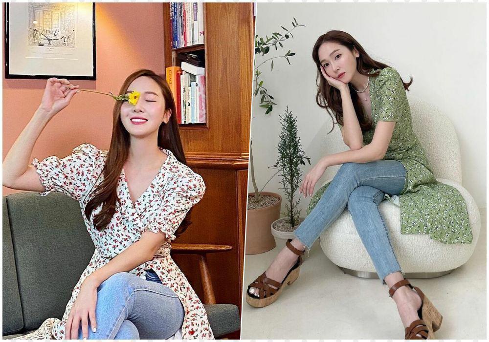 Mix quần jeans với váy dài lạc quẻ: Jessica vẫn đỉnh cao - Ngọc Trinh chán hẳn-3