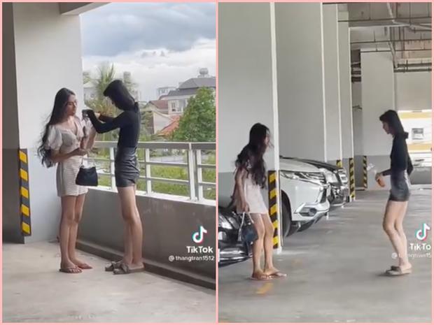 Sự thật clip thanh niên bóc phốt 2 hot girl tài chính sống ảo ở bãi xe-1