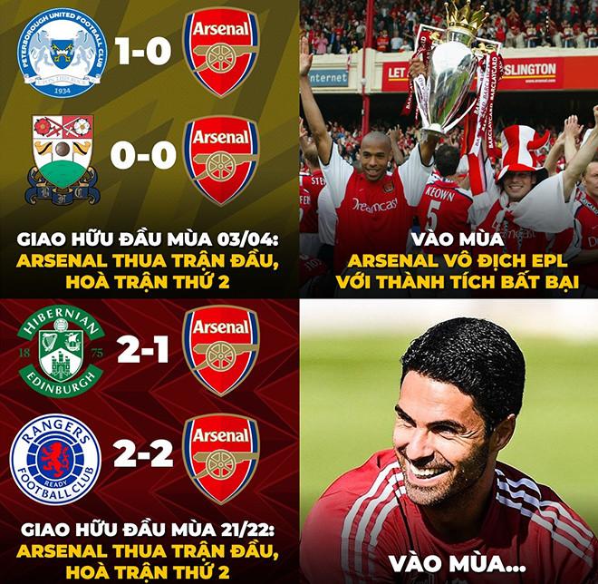 Ảnh chế: Giao hữu thảm họa, fan Arsenal vẫn mơ kỳ tích lặp lại - 1