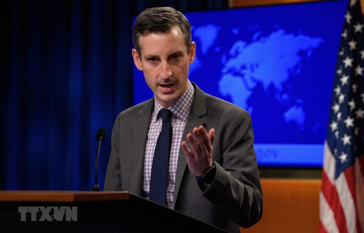 Người phát ngôn Bộ Ngoại giao Mỹ Ned Price. (Ảnh: AFP/TTXVN)