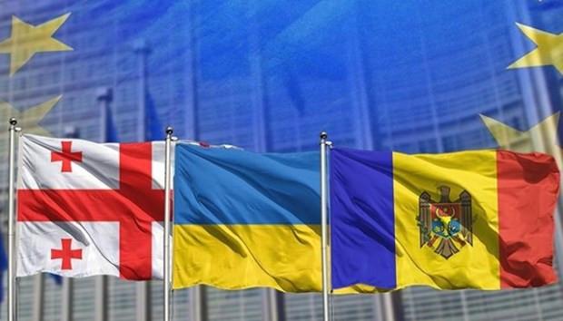 Gruzia, Moldova va Ukraine cung thuc day no luc gia nhap EU hinh anh 1