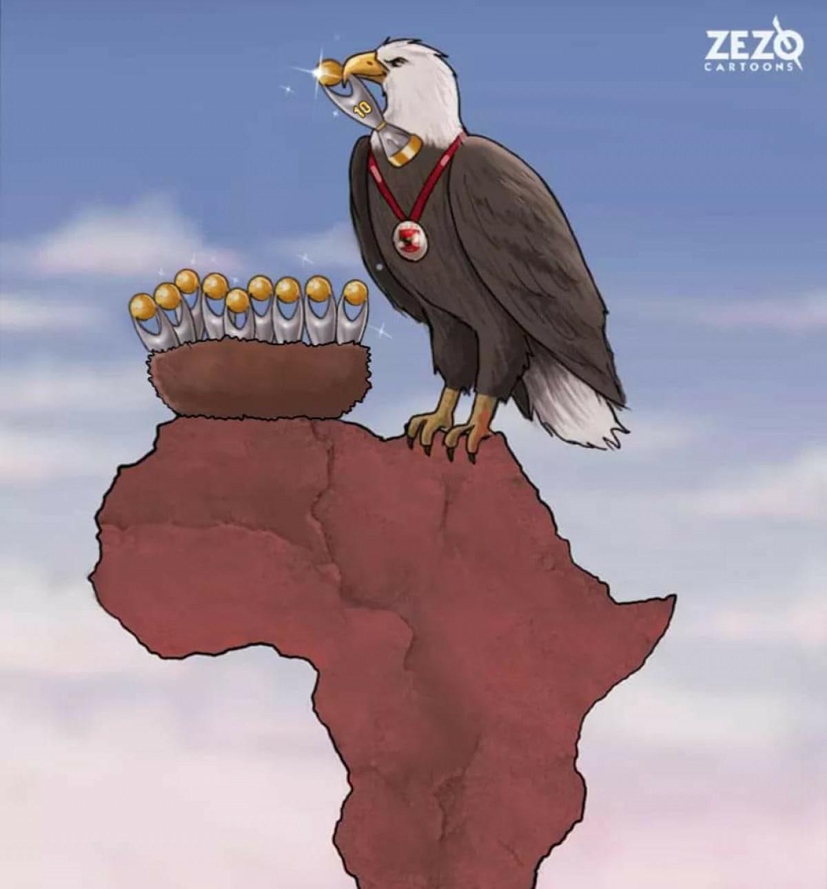 CLB Al Ahly (Ai Cập) tiếp tục thống trị Champions League châu Phi. (Ảnh: Zezo Cartoons).