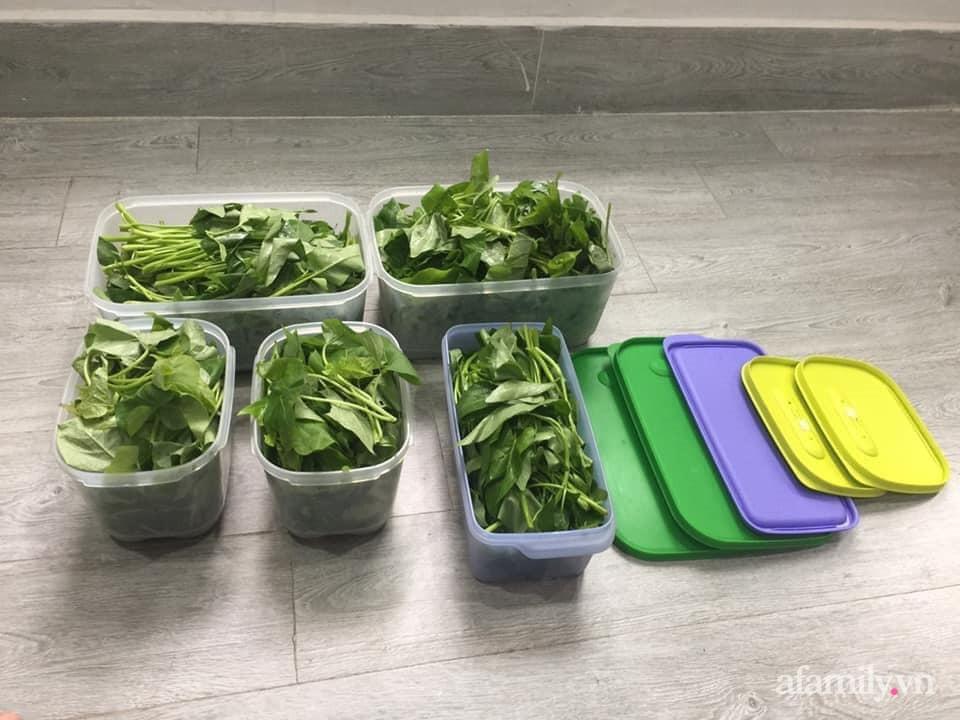 Mẹ Sài Gòn chia sẻ mẹo bảo quản 1 tuần đối với rau xanh để ít phải ra ngoài đi chợ-3