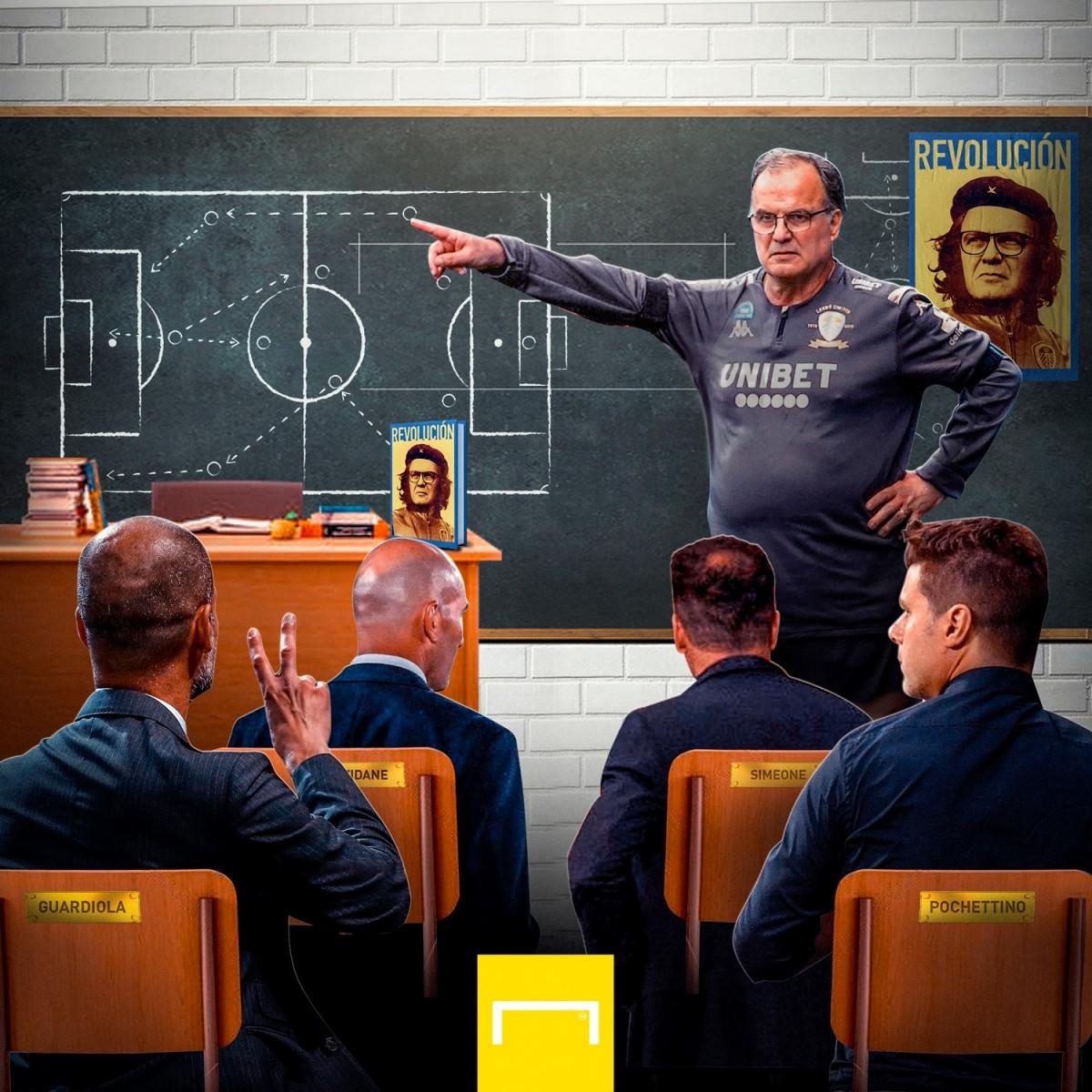 Lớp học bóng đá của Marcelo Bielsa. (Ảnh: Goal)