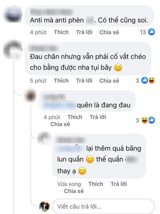 Antifan đào ảnh chân bó bột Hương Giang liền bị mắng vì vô duyên-3