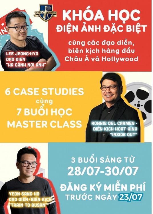 Cơ hội học điện ảnh miễn phí cùng nhiều đạo diễn, biên kịch tên tuổi nổi tiếng thế giới
