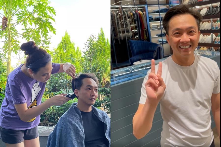 Sao Việt cắt tóc cho chồng mùa dịch: Những cái kết hú hồn-9