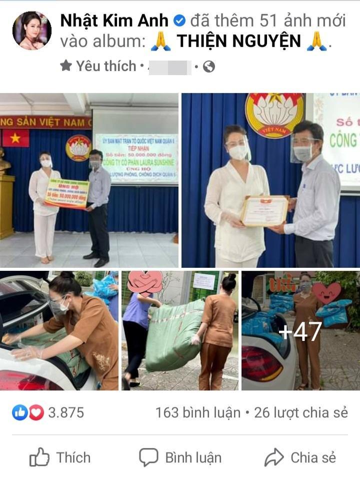 Nhật Kim Anh bị móc mỉa từ thiện bỏ túi riêng mùa dịch-3