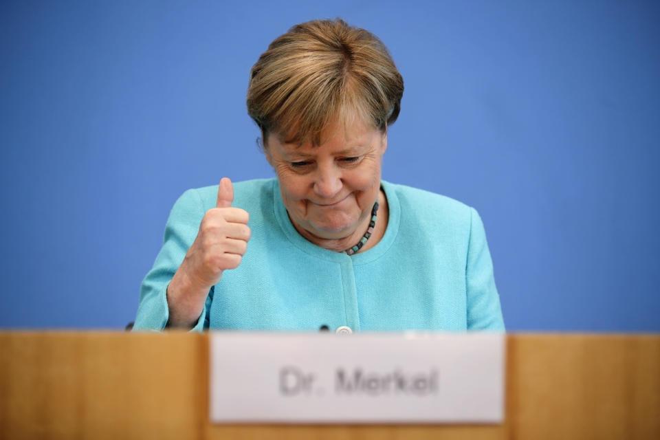 Thủ tướng Merkel: Thỏa thuận Mỹ-Đức về Dòng chảy phương Bắc 2 có lợi cho Ukraine. (Nguồn: AP)