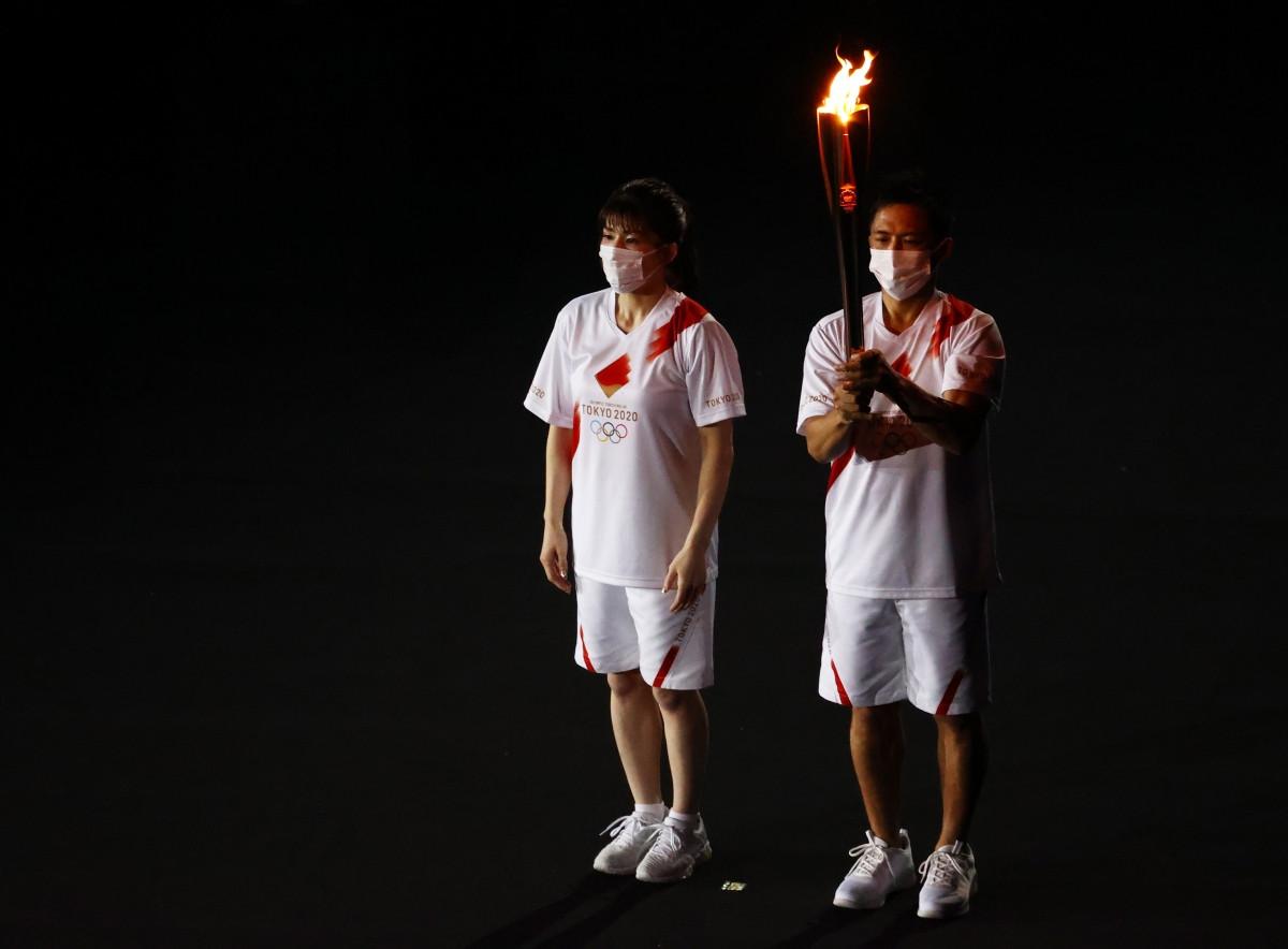 Lễ rước đuốc Olympic Tokyo 2020. (Ảnh: Reuters).