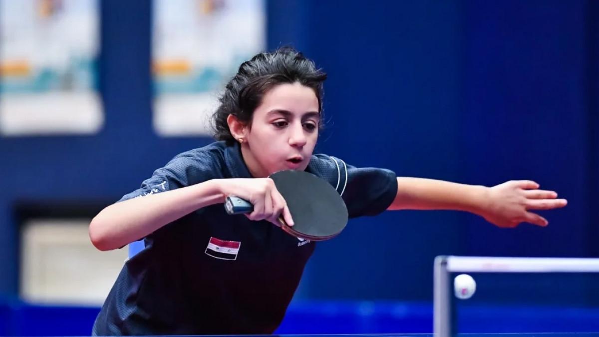 Hend Zaza là vận động viên trẻ nhất dự Olympic Tokyo 2020 (Ảnh: ITTF).