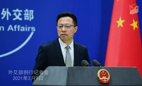 người phát ngôn Bộ Ngoại giao Trung Quốc Triệu Lập Kiên. (Nguồn: Bộ Ngoại giao Trung Quốc)