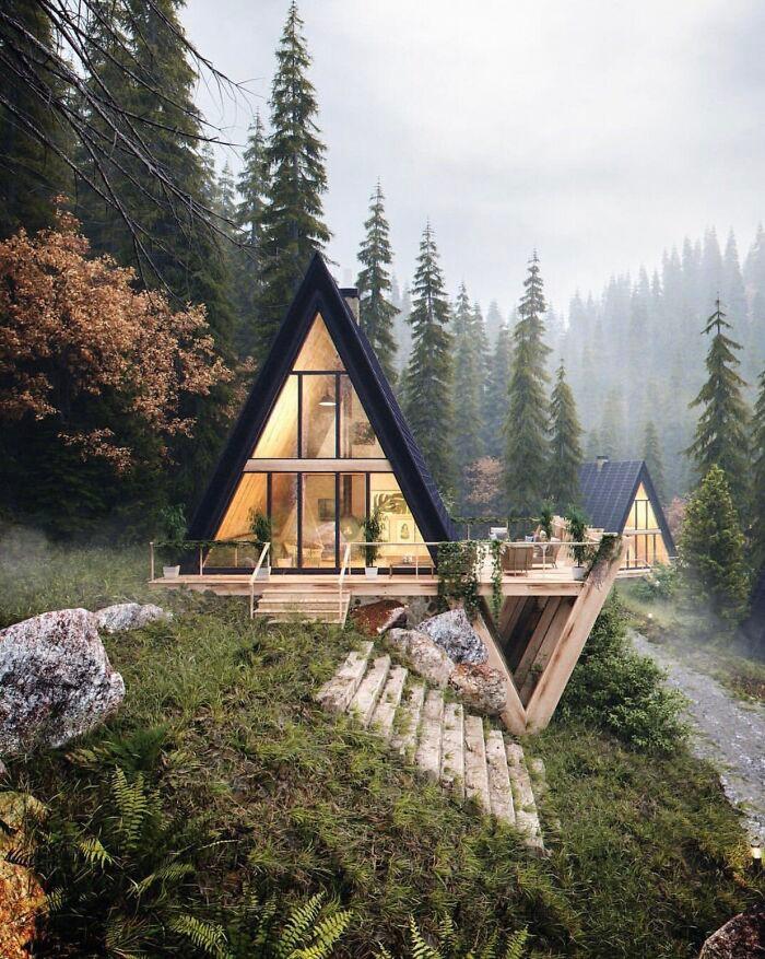 Mê mẩn những căn nhà gỗ nhỏ xinh ẩn mình giữa thiên nhiên - 2
