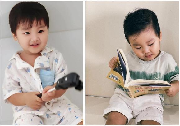 Clip 2 triệu view: Quý tử nhà Hoà Minzy chưa đầy 2 tuổi đã thuộc làu 19 quốc kỳ-3