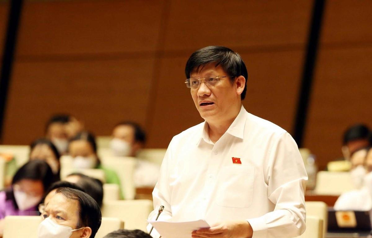 Bộ trưởng Bộ Y tế Nguyễn Thanh Long phát biểu. (Ảnh: Phạm Kiên/TTXVN)