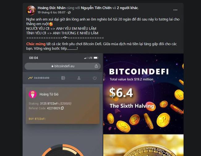Thủ lĩnh đa cấp tiền số BitcoinDeFi bất ngờ mất sóng, DJ nổi tiếng xóa bài đăng quảng cáo - Ảnh 3.