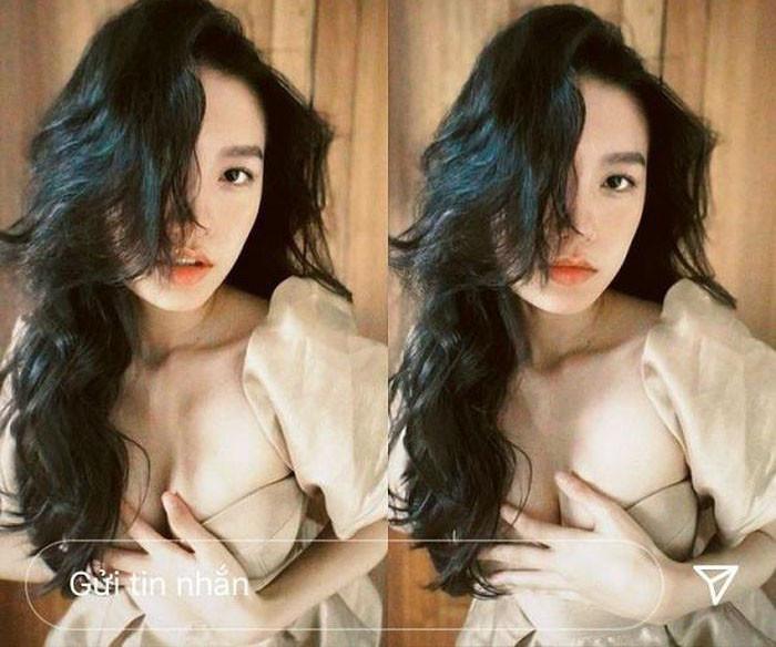 Người yêu tin đồn của Đoàn Văn Hậu vất vả che chắn vì chiếc váy cúp ngực táo bạo - 5
