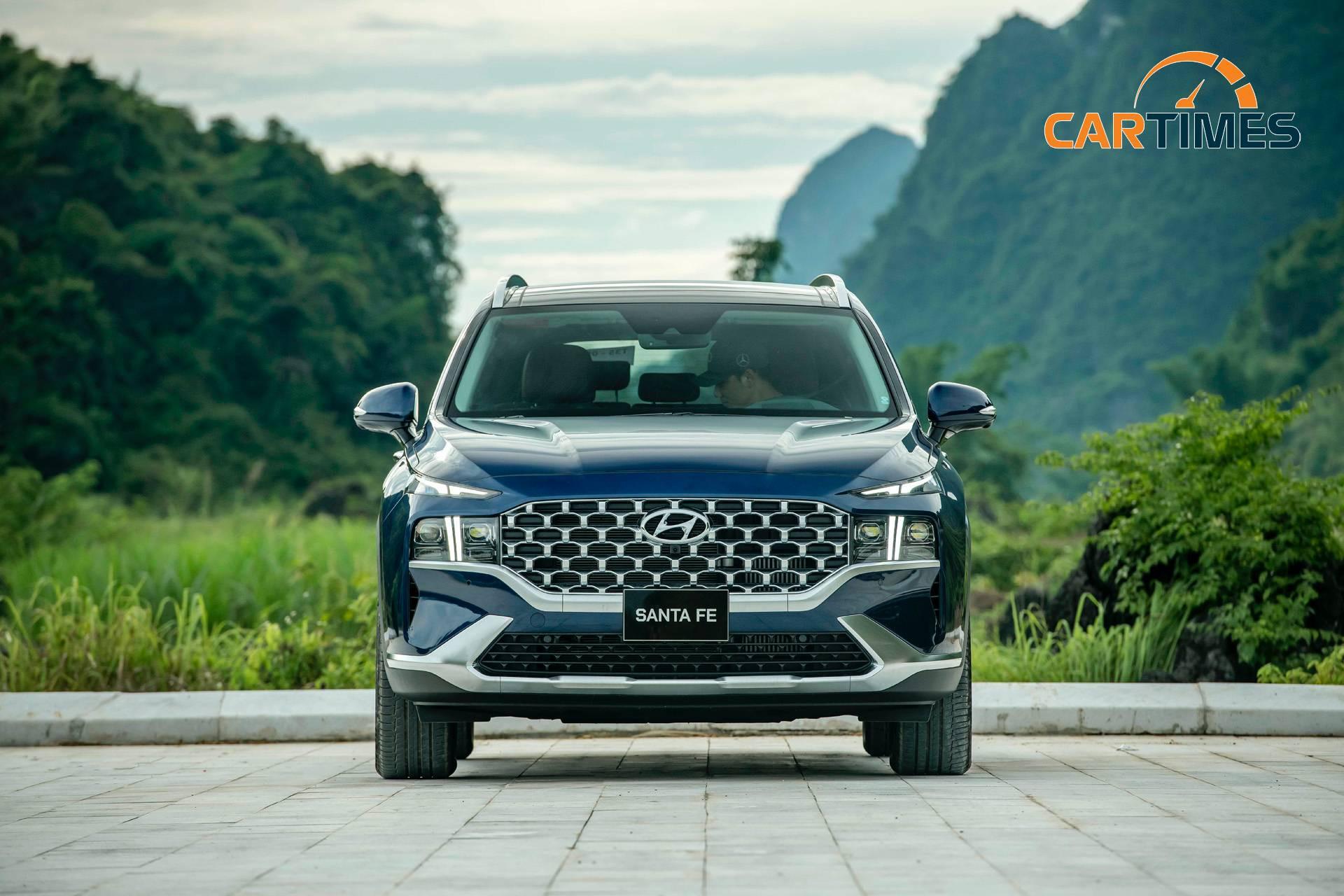 Thiết kế đầu xe Hyundai Santa Fe 2021