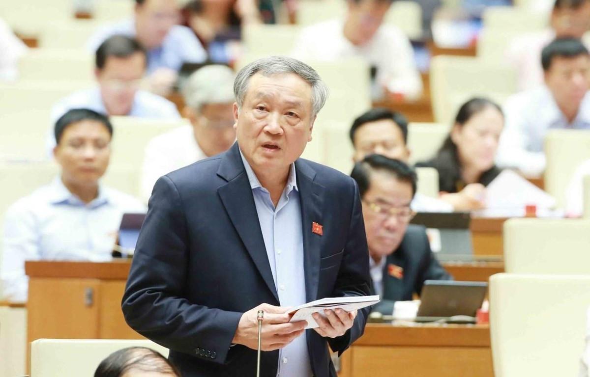 Ông Nguyễn Hoà Bình, Chánh án Toà án nhân dân tối cao nhiệm kỳ 2016-2021. (Ảnh: Phương Hoa/TTXVN)