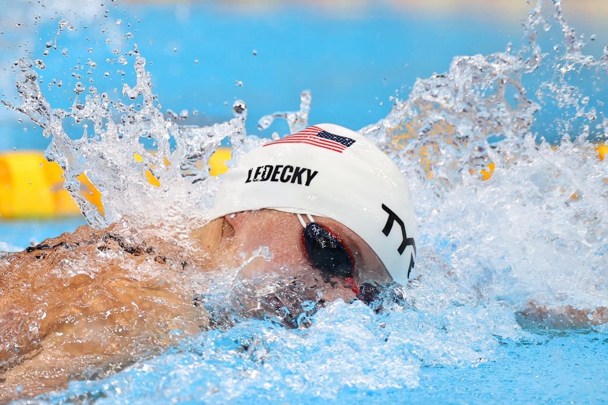 Ledecky - đối thủ của Ánh Viên ở nội dung thi sắp tới đang là đương kim giữ HCV Olympic nội dung 200m tự do. Cô cũng tùng phá 5 kỷ lục thế giới. Trong buổi sáng nay (26/7), Ledecky đã giành HCB nội dung 400m tự do Olympic Tokyo. (Ảnh: Reuters)
