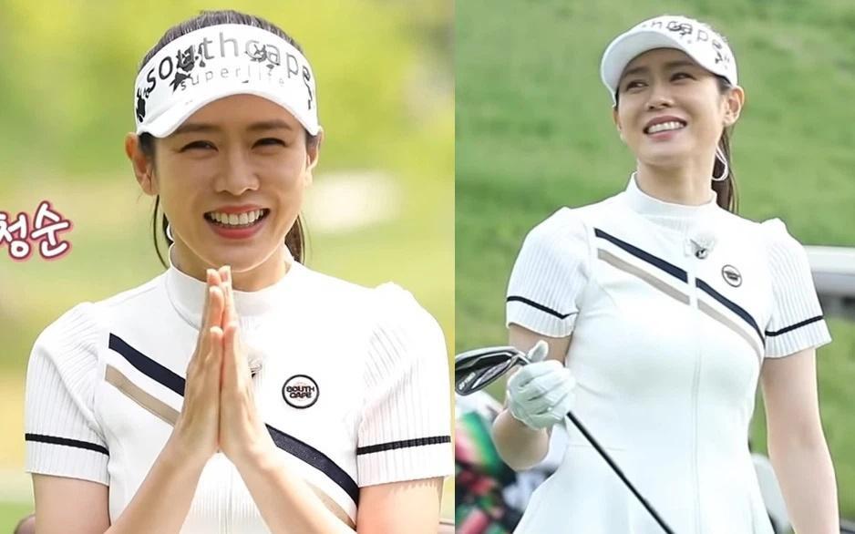 Thời trang chơi golf hack tuổi lại ton-sur-ton của cặp Hyun Bin - Son Ye Jin-3
