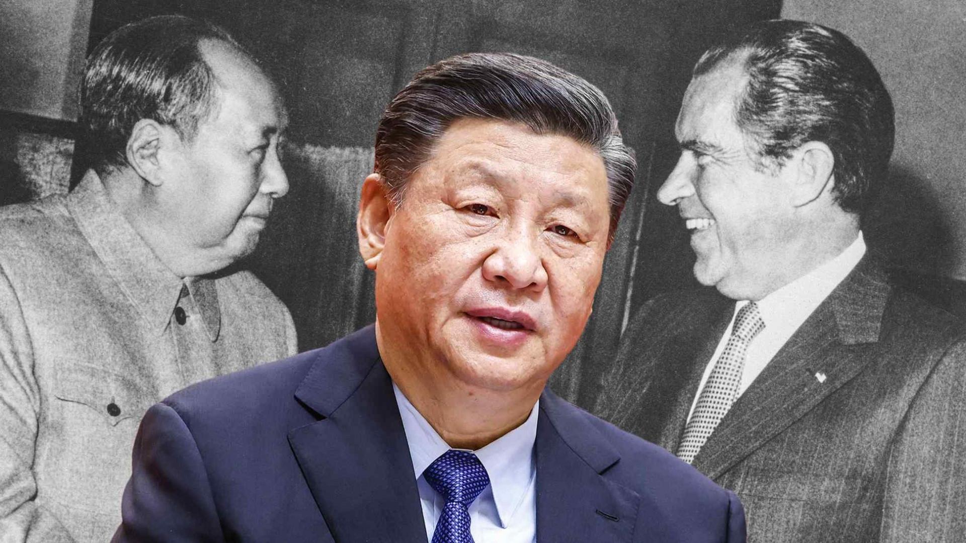 Cuộc gặp năm 1972 giữa Mao Trạch Đông và Tổng thống Hoa Kỳ Richard Nixon đã khởi động quá trình bình thường hóa quan hệ giữa Hoa Kỳ và Trung Quốc và định hình lại nền chính trị toàn cầu. (Nguồn ảnh AP và Tân Hoa xã / Kyodo)