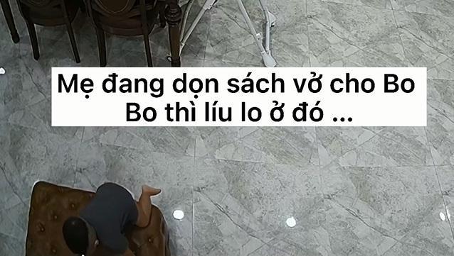 Thót tim nhìn con trai Hòa Minzy ngã ngửa từ trên cao-3