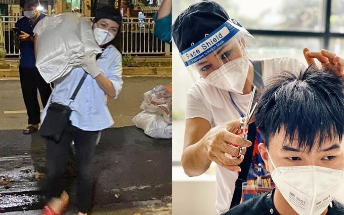 Những khoảnh khắc nghệ sĩ Việt giúp dân chống dịch gây xúc động-4