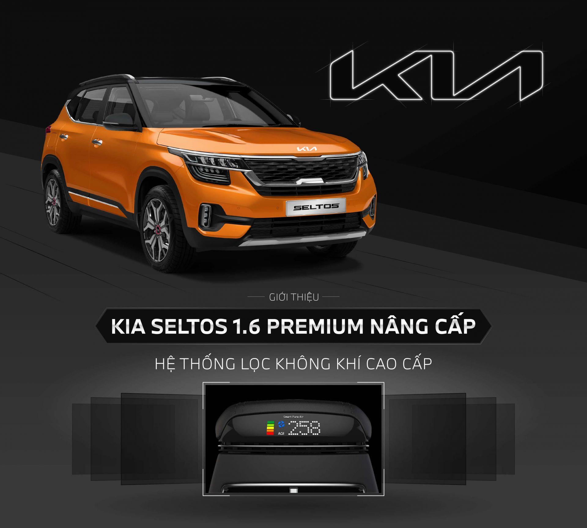 Kia Seltos nâng cấp hệ thống điều hoà và logo
