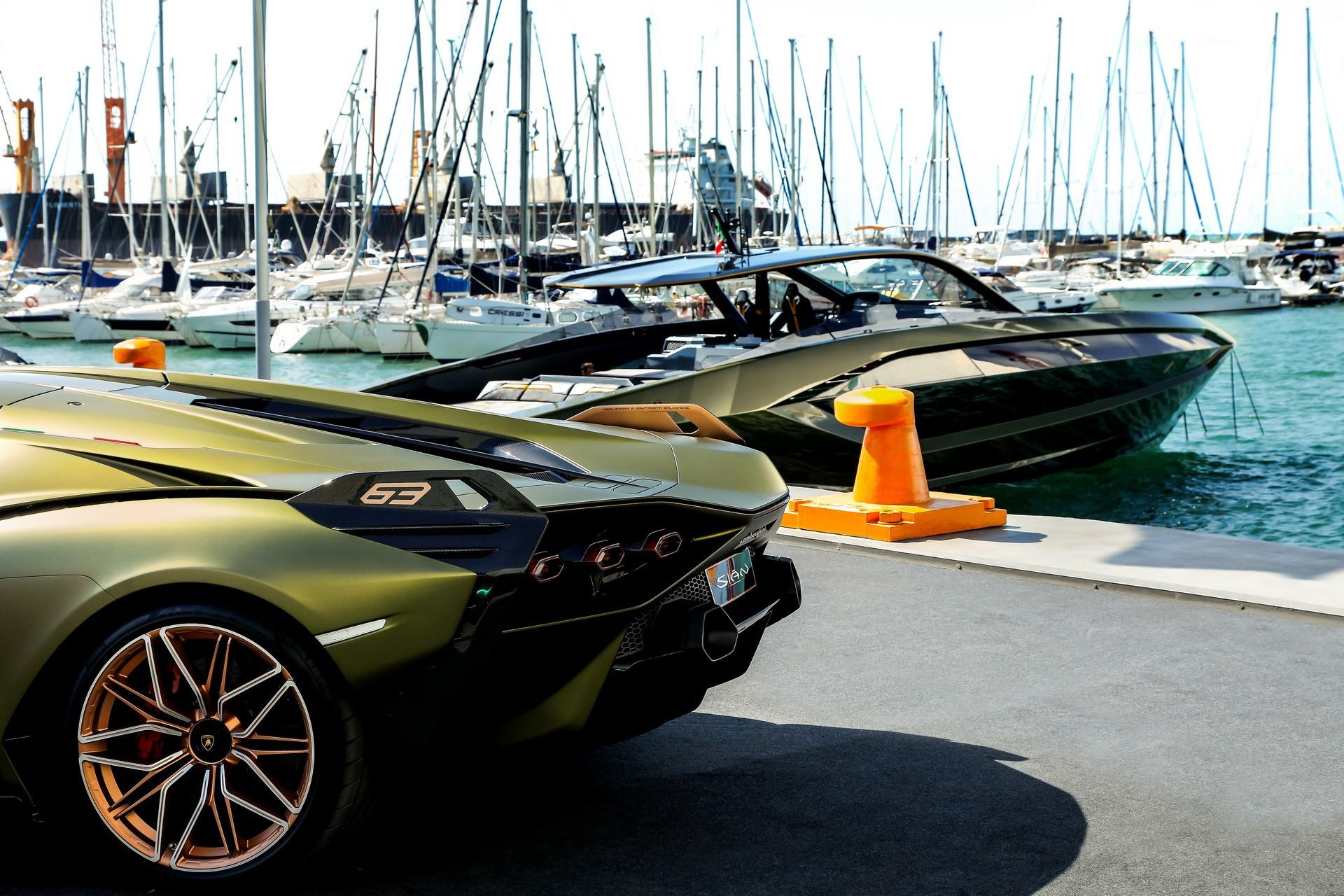 Du thuyền lấy cảm hứng từ siêu xe Lamborghini Sian
