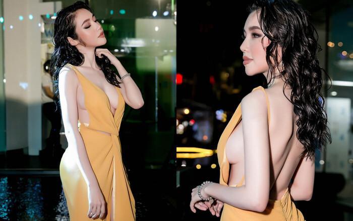 Tóc Tiên, Elly Trần khoe vòng 1 bốc lửa với mốt váy áo khoét sườn-6