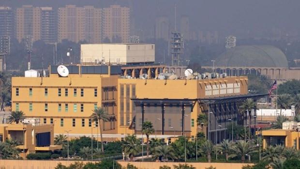 Đại sứ quán Mỹ tại Iraq. (Nguồn: Reuters)