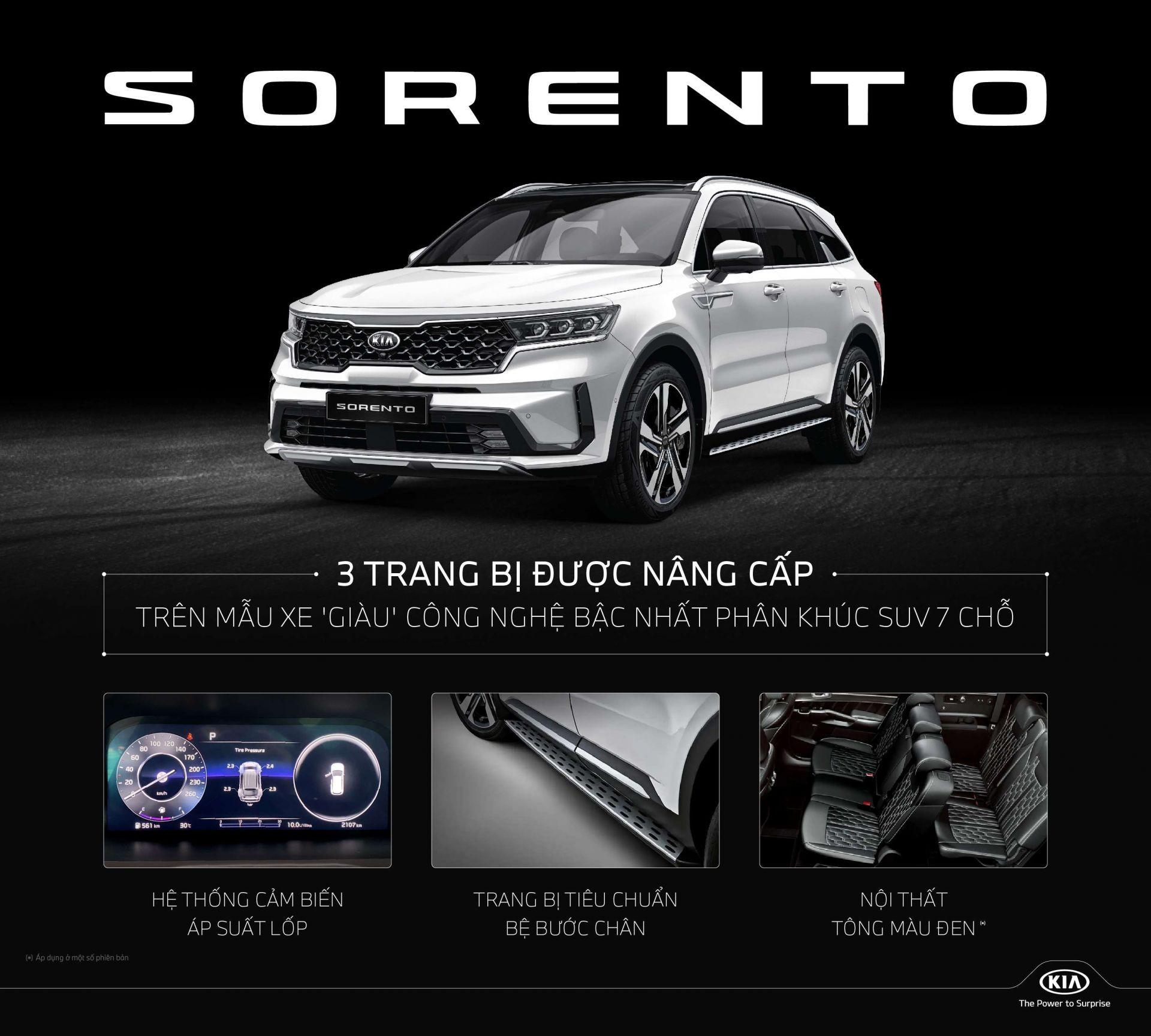 Kia Sorento được nâng cấp một số trang bị