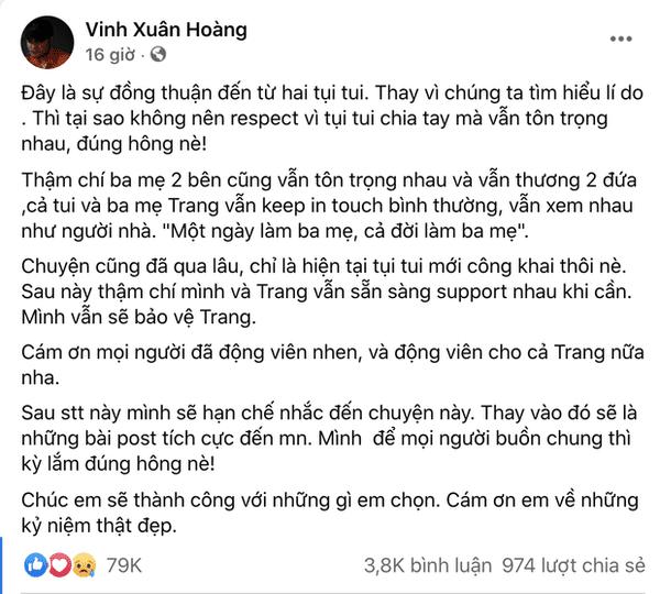 Lương Minh Trang - Vinh Râu ly hôn 5