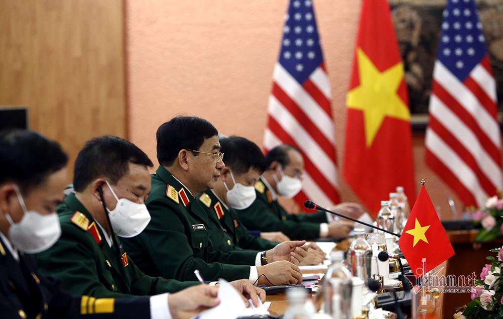 Đại tướng Phan Văn Giang chủ trì lễ đón Bộ trưởng Quốc phòng Mỹ