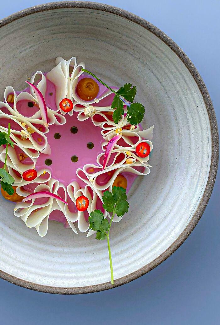 Đỉnh cao nghệ thuật trang trí món ăn của đầu bếp mùa giãn cách - 7