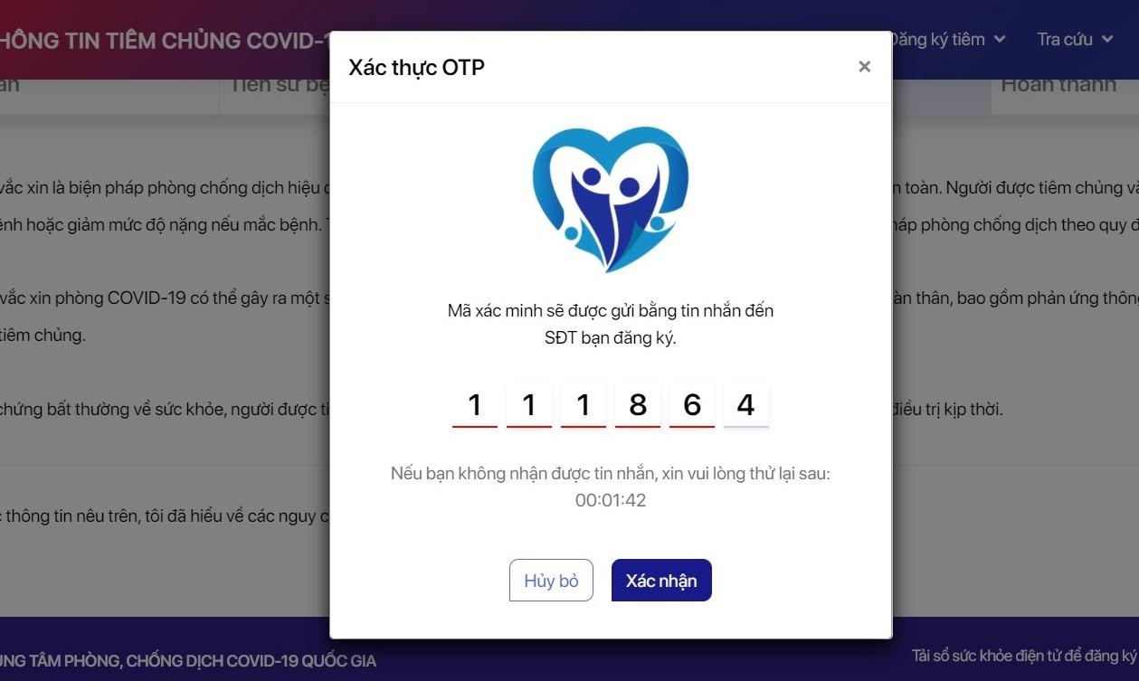 Hướng dẫn đăng ký tiêm chủng Covid-19 hộ người thân trên 65 tuổi