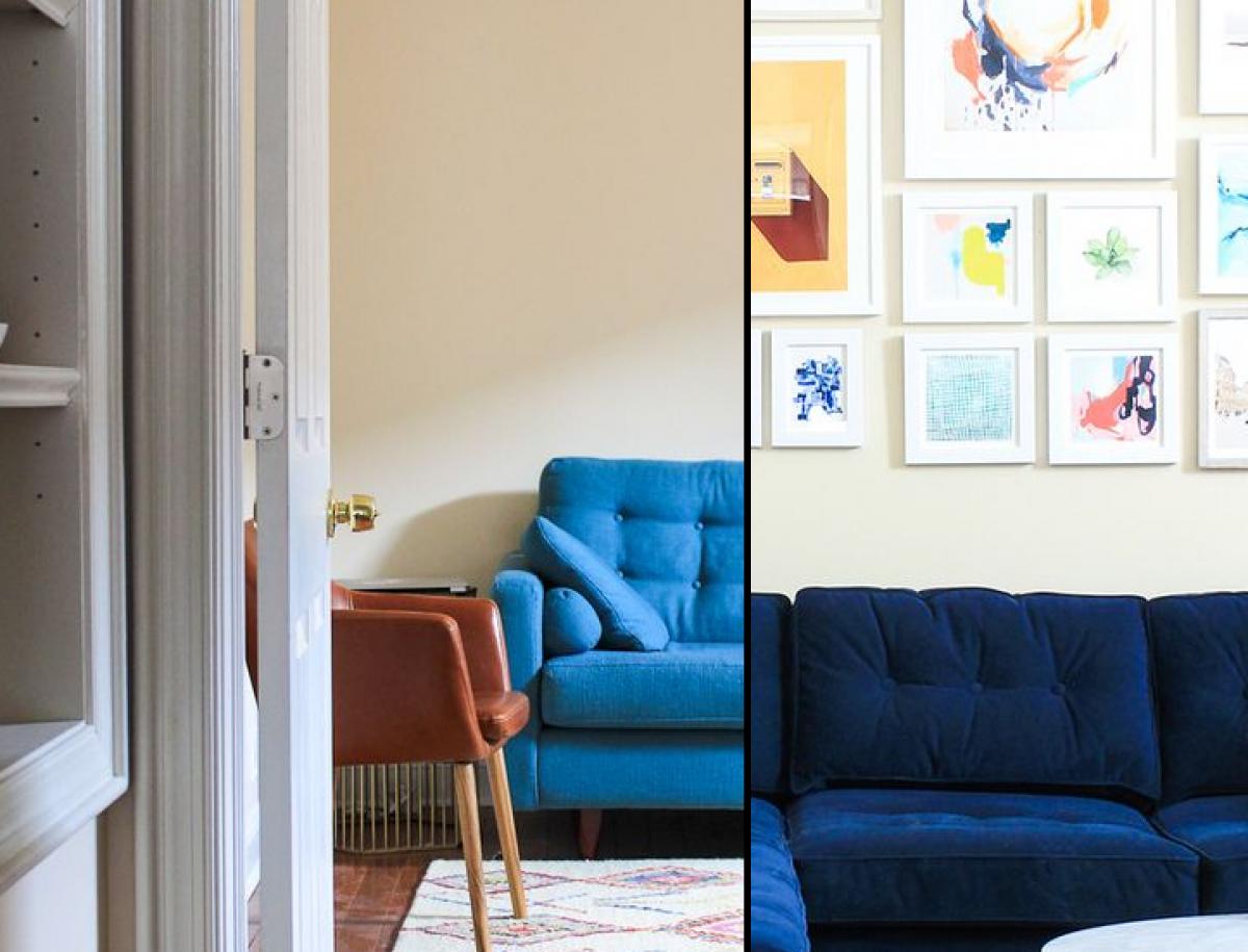 Cải thiện bức tường nhàm chán, đơn điệu bằng những bức tranh trang trí.
