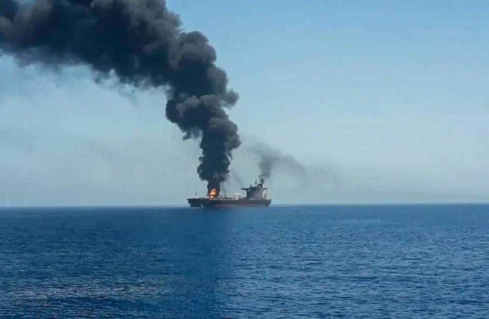 Tàu thương mại của Israel bị UAV cảm tử tấn công ở khu vực ngoài khơi Oman