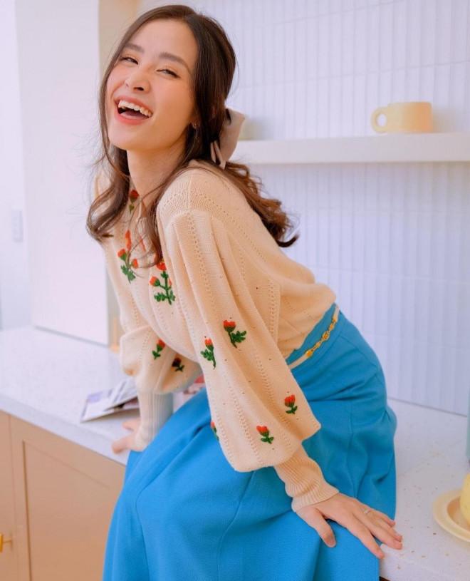 Thời trang ở nhà của sao Việt: Diệu Nhi đụng độ BLACKPINK, Thiều Bảo Trâm khoe dáng nuột - 5