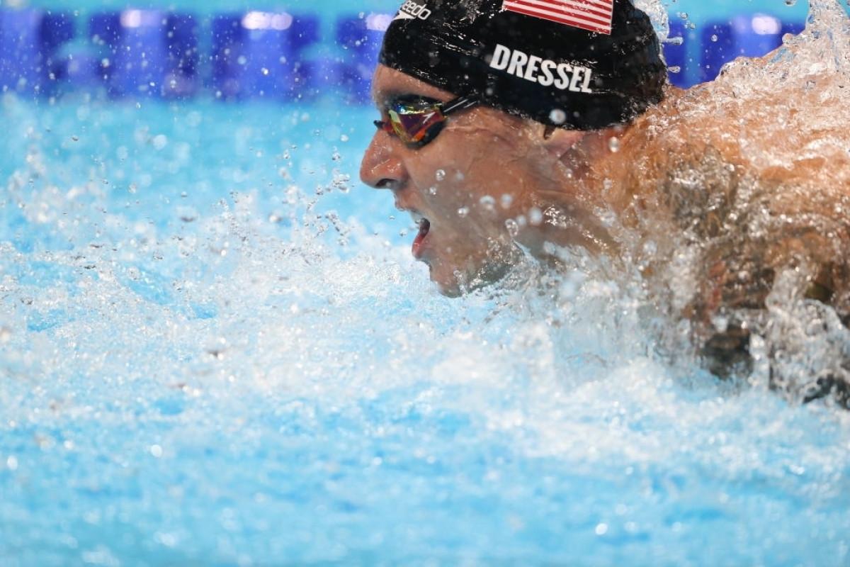 Những kỷ lục của Caeleb Dressel thiết lập như sau: 100m bơi bướm nam 47 giây 02 (kỷ lục Olympic)