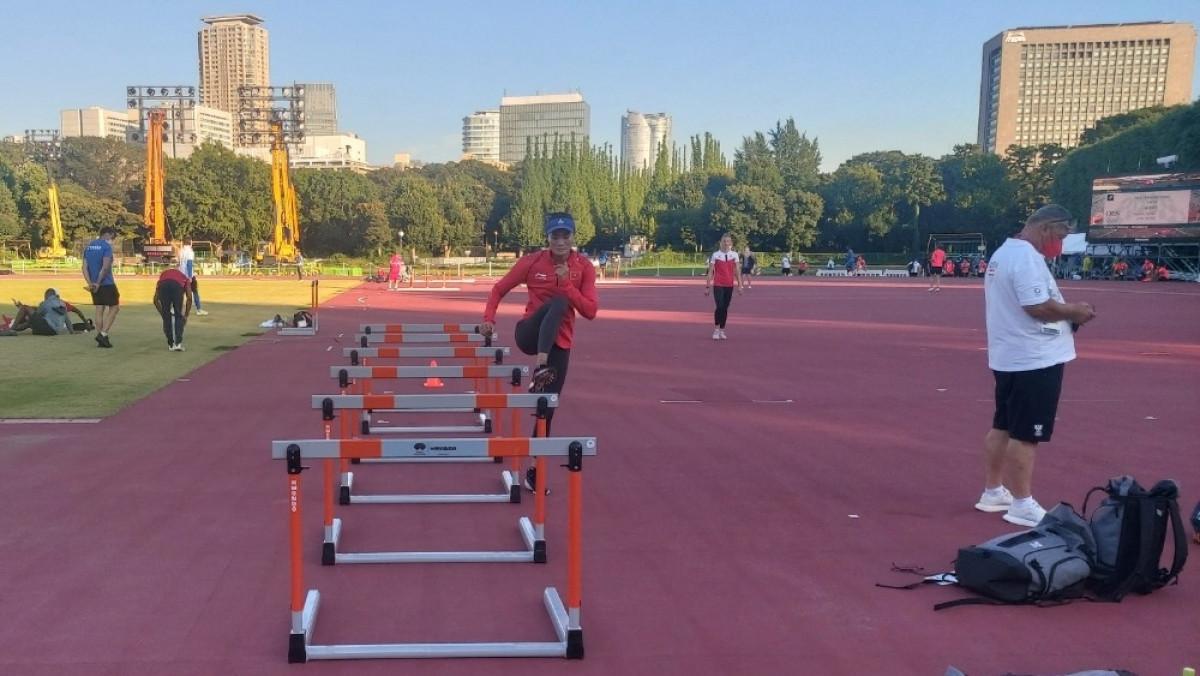 Do đó, Lan đang tích cực tập luyện để chuẩn bị cho lượt trận bán kết diễn ra vào lúc 18h35 ngày 2/8.