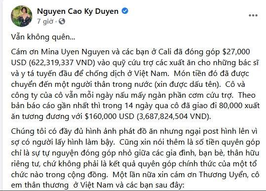 MC Kỳ Duyên bị chất vấn tiền từ thiện thiếu minh bạch-1