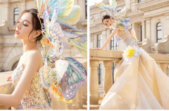Địch Lệ Nhiệt Ba có nguyên 1 BST váy công chúa khiến hội bánh bèo nhìn mà nghiện-4