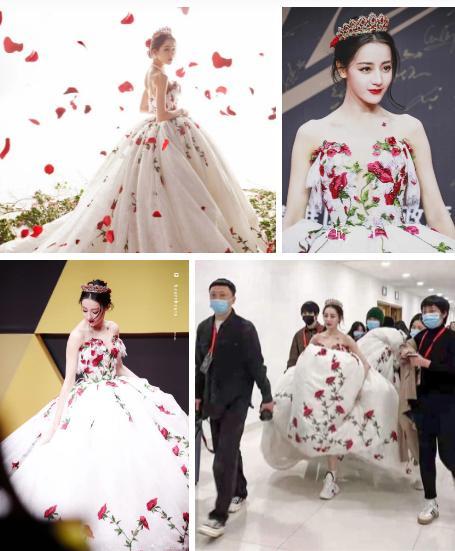 Địch Lệ Nhiệt Ba có nguyên 1 BST váy công chúa khiến hội bánh bèo nhìn mà nghiện-7